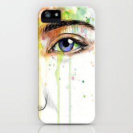 Girl in Collors iPhone Case