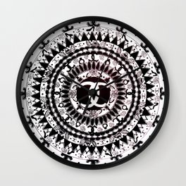 Designer Fashion Black and White Floral High-End Couture Mandala Wall Clock