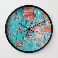 the neighbourhood Wall Clocks featuring brick by Claudia Drossert