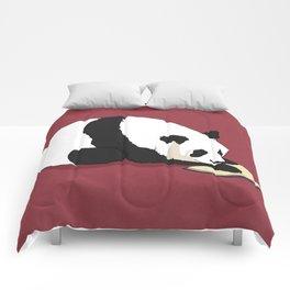 Reading Panda Comforters