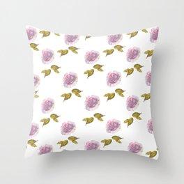 Roses art watercolor Throw Pillow