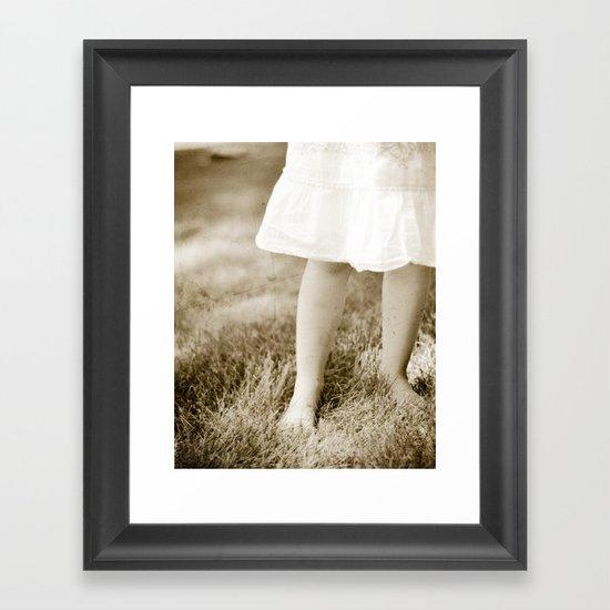 Small innocence Framed Art Print