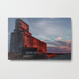 A Sunset In My City Metal Print