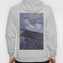 """Claude Monet """"On the Boat"""" Hoody"""
