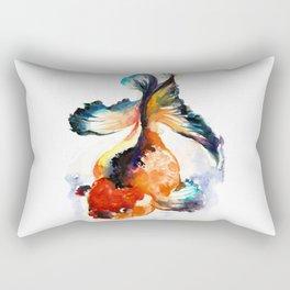 LUCKY GOLD FISH ZEN WATERCOLOR Rectangular Pillow