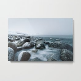 La plage des rochers Metal Print