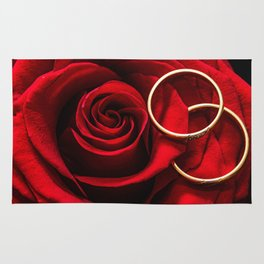 Rose and Wedding Rings Rug