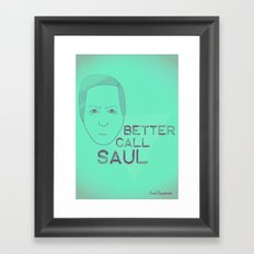 Breaking Bad - Faces - Saul Framed Art Print