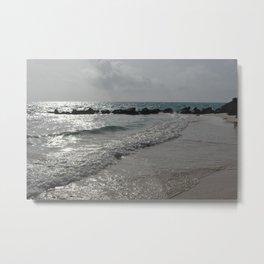 Bermuda Shore Sunset Metal Print