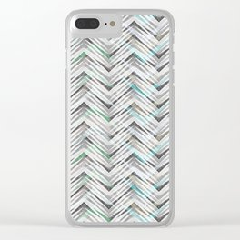 Zigzag pattern2 Clear iPhone Case