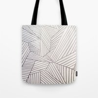 stripe Tote Bags featuring stripe by HooVeHee