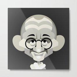 Gandhi vector caricature Metal Print