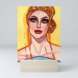 GLAMOUR PUSS HYTES Mini Art Print