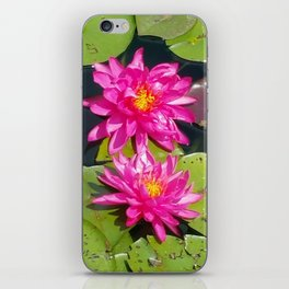 Twin wild Lotuses iPhone Skin