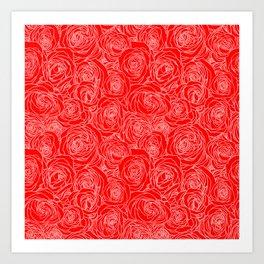 Scarlet Roses Art Print