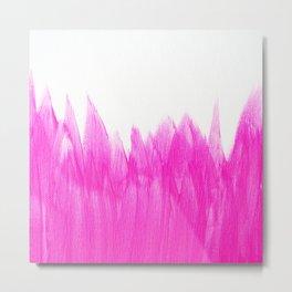 Pink Brushed Metal Print