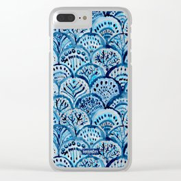 DEEP LIFE Mermaid Scales Clear iPhone Case