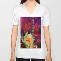 astrology V-neck T-shirts featuring Astrology by shiva camille