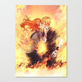Heavenly Fire Canvas Print
