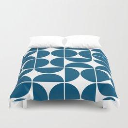 Mid Century Modern Geometric 04 Blue Duvet Cover