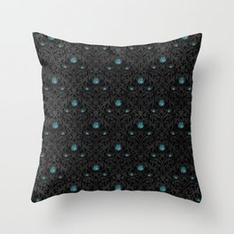 Turquoise Rose 1 Throw Pillow