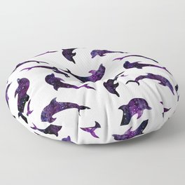 Space Dolphins Floor Pillow