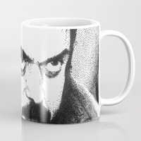 stanley kubrick Mugs featuring Stanley Kubrick by Daniel Point