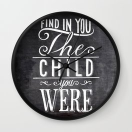 find in you Wall Clock