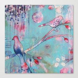 Sakura Birds Canvas Print