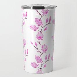 Magnolia - White Travel Mug