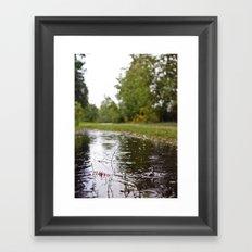 Wapato Park rain Framed Art Print