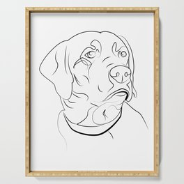 Labrador Retriever Line Drawing Serving Tray