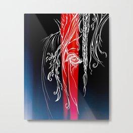 Delicate-Red Metal Print
