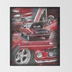 1966 Mustang  Throw Blanket