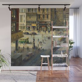 American Masterpiece 'Greenwich Village, NY' by Alfred S. Mira Wall Mural