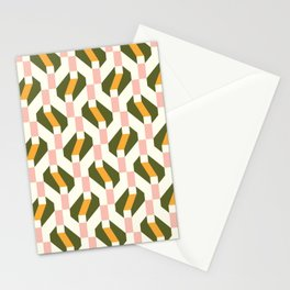 Geometric Weaving Stationery Cards