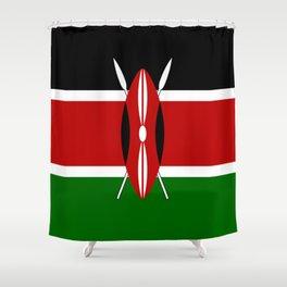 Flag of Kenya Shower Curtain