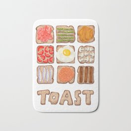 Breakfast Toast Bath Mat