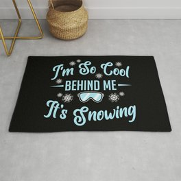Skier Ski Team Skiing I'm So Cool Snowing Gift  Rug
