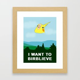 I want to BIRBLIEVE Framed Art Print