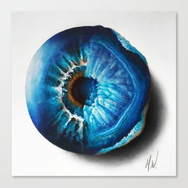 """Crystal Geode Eye"" Drawing Canvas Print"