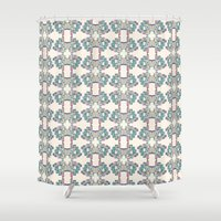 buildings Shower Curtains featuring Buildings by MissSOTOKA