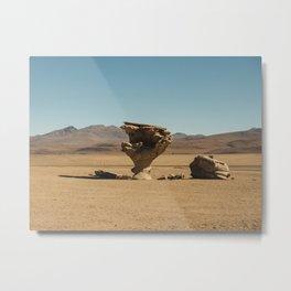 Stone Tree, Uyuni, Bolivia Metal Print