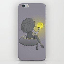 Drawin' in the rain iPhone Skin