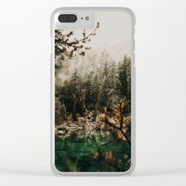 LAC VERDE /// Mountain Lake Clear iPhone Case