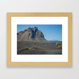 A Rock, An Island (Iceland) Framed Art Print