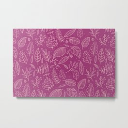 Elegant leaves 4 Metal Print