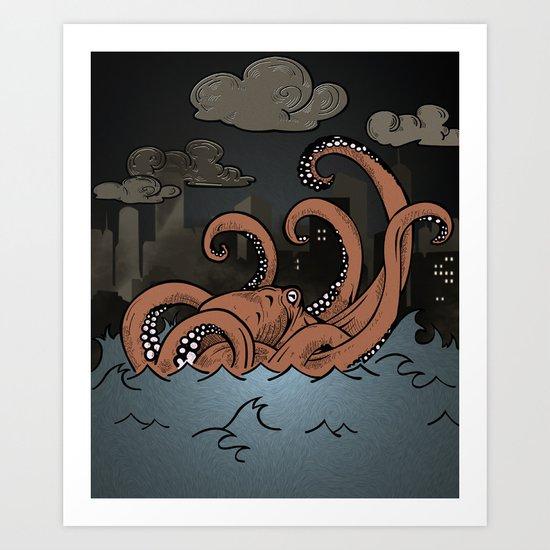 Octopi Movement  Art Print