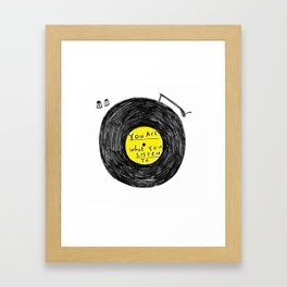 you are what you listen to, YELLOW Framed Art Print