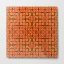 Lush Vibrant Orange Geometric Glow Quilt Print by carlieamberpartridge